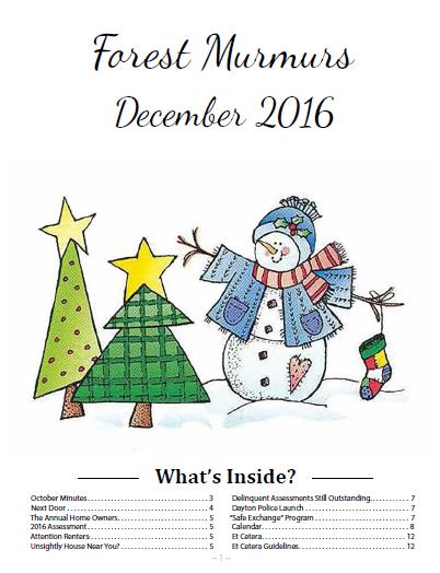 Forest Ridge Murmurs December 2015